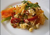Opékané knedlíky se zeleninou a česnekem