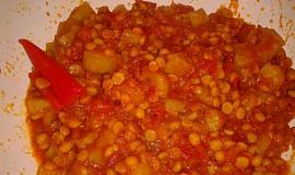 Pákistánská kuchyně - Lauki chana dall (žlutý hrách s tykví) od švagrové
