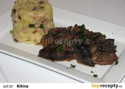 Pečená hlíva ústřičná s bedlou jedlou
