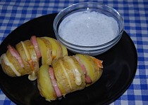 Plněné brambory z mikrovlnky