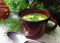 Polévka risi-bisi s hříbky