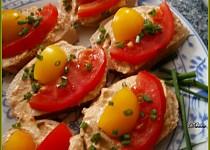 Pomazánka z rybiček a pečené zeleniny