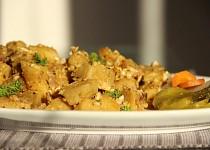 Výpečkové bramborové knedlíky s vajíčkem
