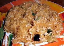 Zelí s rýží a zeleninou