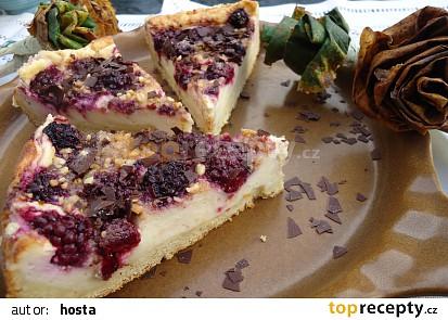 Bramborový koláč s vanilkovým krémem