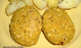 Čočkové karbanátky bez lepku, mléka a vajec