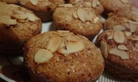 Cuketové muffiny s mandlemi