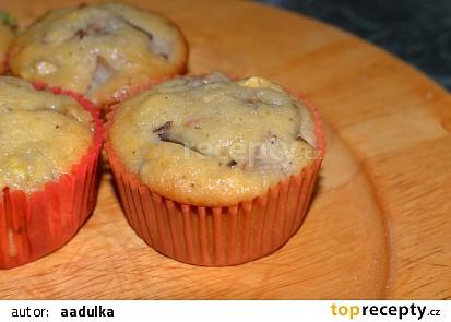 Hruškové muffiny s kaštany