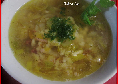 Lovecká polévka s dobením