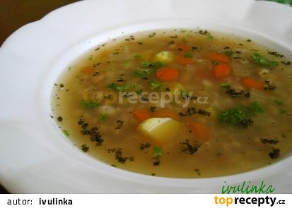 Ovarová polévka s kroupami
