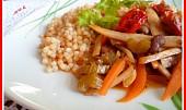 Pečená tarhoňa s restovanou zeleninou