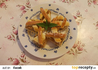 Mřížkový koláč s jablky - bez vážení