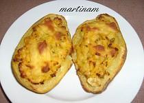 Plněné pečené brambory bez lepku, mléka a vajec