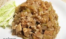 Tofu v zelí s rýží