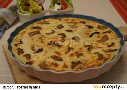 Tortilly zapečené s houbami
