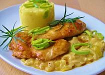 Glazované kuřecí s pórkovou omáčkou