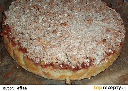 Jáhlový koláč s jablky a drobenkou