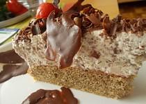 Kávový dort  s krémem z ledových  kaštanů, kofily a jogurtů