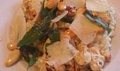 Krémové risotto s pečeným květákem a mandlemi