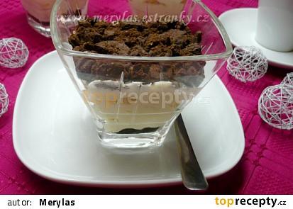 Krtkův pohár s tvarohovo-pudinkovým krémem