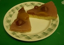 Ovocný koláč s pudinkovým rosolem