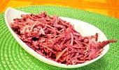 Salát z červené řepy nevařené