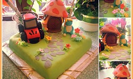Šmoulí dort