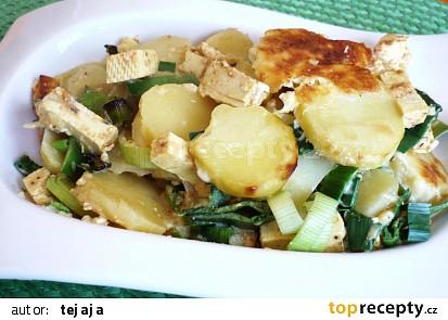 Tofu zapékané s pórkem