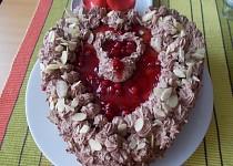 Valentýnské srdce - dortík