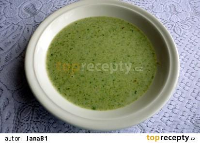 Vločková polévka se špenátem