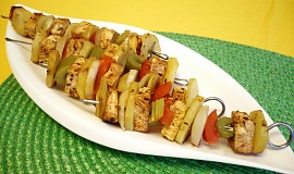 Zeleninové ražniči s tofu