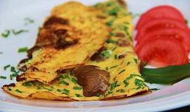 Bylinková omeleta s hlívou