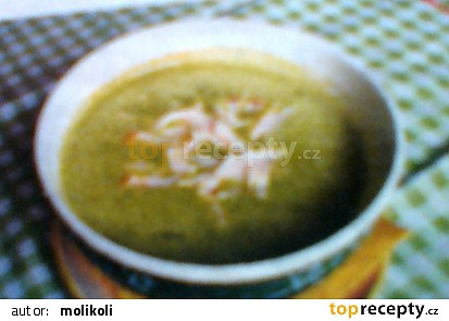 Hrášková polévka se šunkou