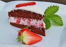 Jednoduchý jahodový dort