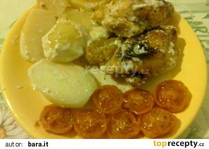 Kuře na bramborách se smetanou