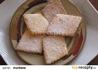 Linecké sušenky s kokosem
