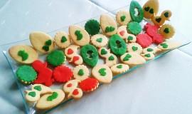 Máslové sušenky s marcipánem