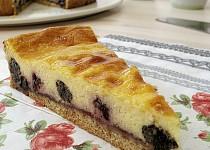 Tvarohový koláč s mákem a marmeládou