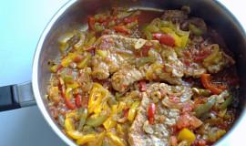 Vepřový kotlet s paprikou