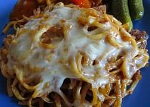 Zapečené gulášové špagety