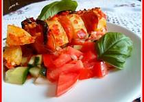 Bramborové špízy s klobásou a ostrou zeleninou