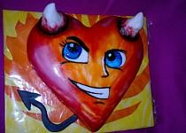 Čertovo srdce s šibalským usměvem