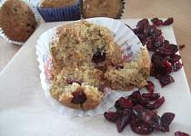 Cizrnovo-citrónové muffiny s brusinkami