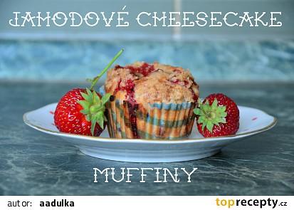 Jahodové cheesecake muffiny
