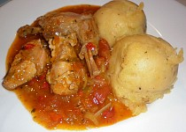 Králík s rajčatovou omáčkou  - Conejo en salsa de tomate