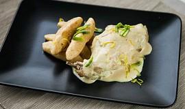 Králík v krémové hořčičné omáčce a bramborové šišky