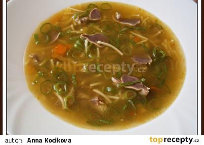 Kuřecí polévka se žaludky