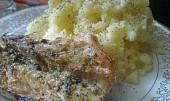 Makrelka pečená s brambůrkem vařeným