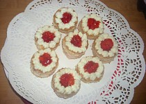 Moje mini dortíky - jahodové