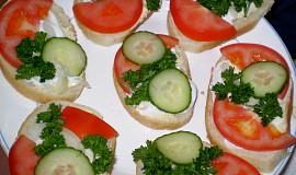 Nejobyčejnější chlebíčky - vegan
